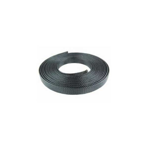 "NTE Electronics 1/4"" Flame Retardant No-Fray Expandable Braided Polyester Sleeving"