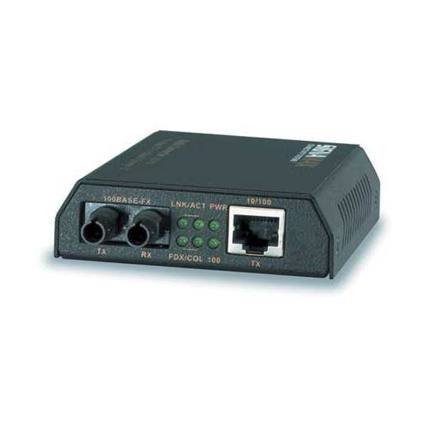 Signamax 065-1100 10/100BaseT/TX to 100BaseFX ST Media Converter with Link Fault Signaling