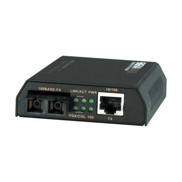 Signamax 065-1110 10/100TX to 100FX SC Media Converter with Built-In Switch / USB Power Option