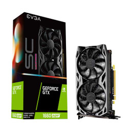 EVGA 06G-P4-1068-KR GeForce GTX 1660 SUPER SC ULTRA GAMING with 6GB GDDR6 and Dual Cooling Fans