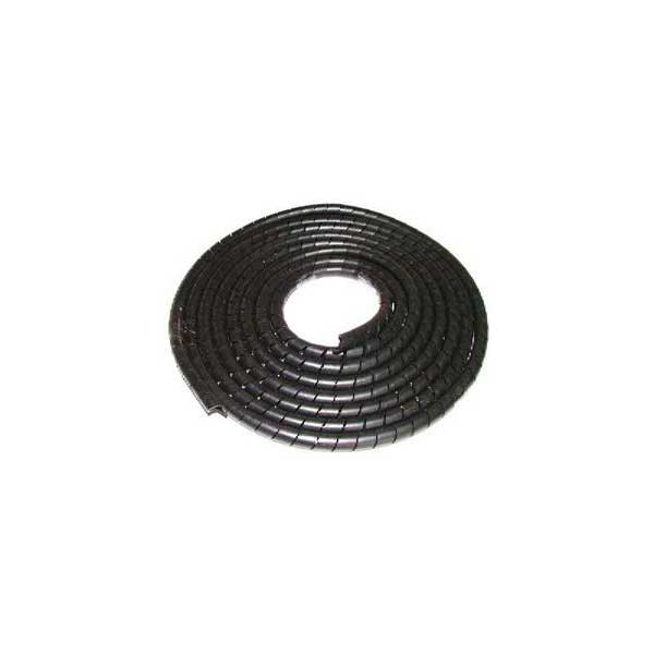 "Black Spiral Wrap Cable Sleeving - 3/4"" Diameter"