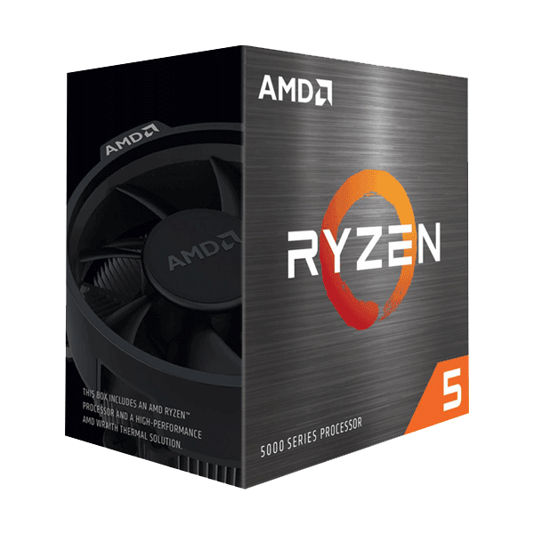 AMD 100-100000065BOX Ryzen 5 5600X 6-Core Desktop Processor with Wraith Stealth Cooler