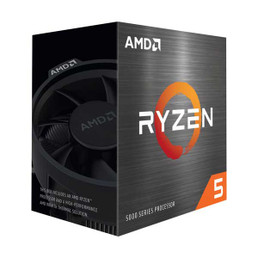 AMD 100-100000065BOX Ryzen 5 5600X 4th Gen 6-Core Desktop Processor with Wraith Stealth Cooler