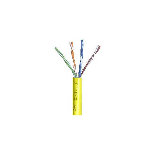 Belden DataTwist 5e Twisted Pair Networking Cable - Yellow / 1000