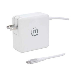 Manhattan 180245 60W USB-C Power Delivery Wall Charger with Built-in USB-A Charging Port