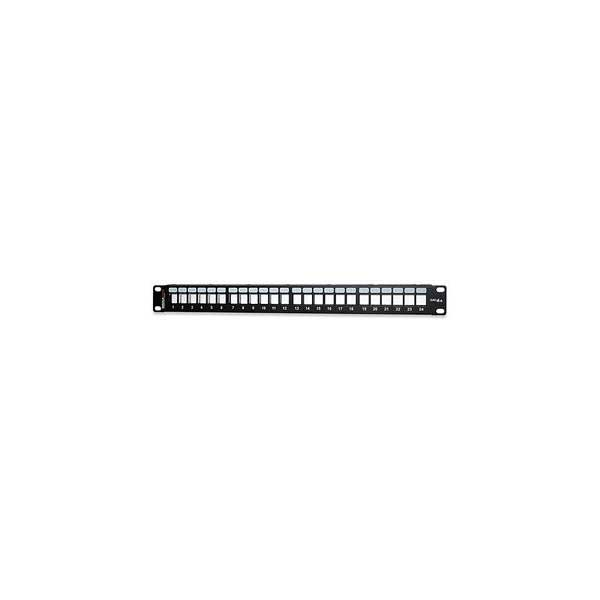 24-Port Category 6A Field-Configurable Unloaded Patch Panel