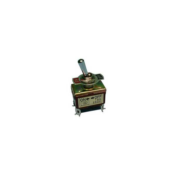 Standard Toggle Switch w/ Screw Terminals - DPST / On - Off