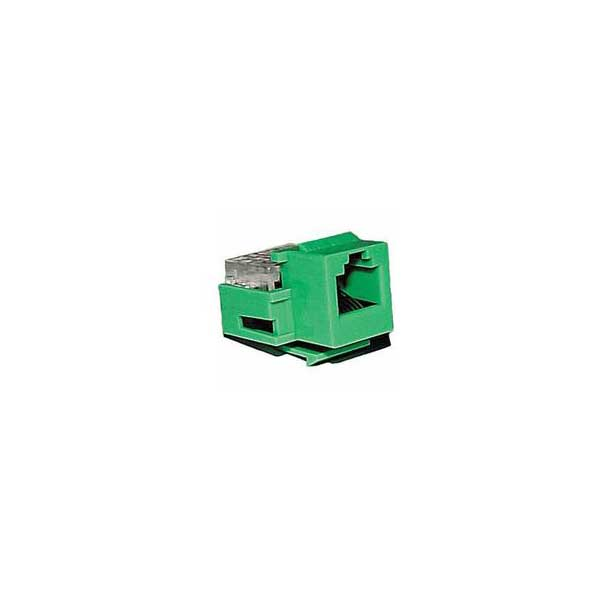 Category 3 IDC Type Keystone Jack (6P6C) - Green