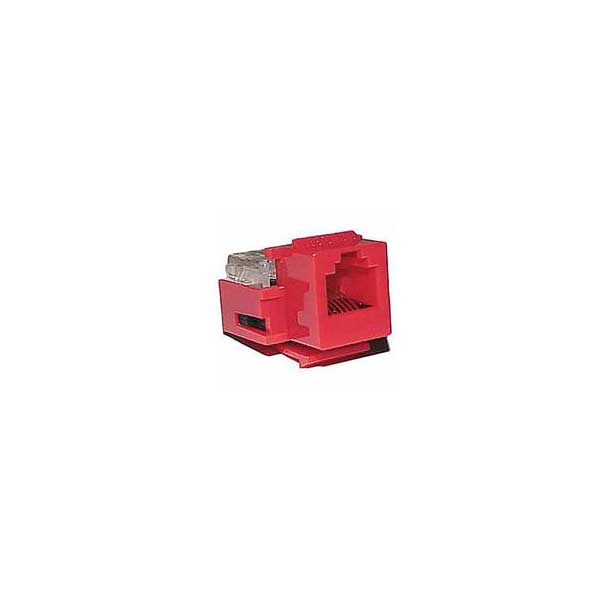 Category 3 IDC Type Keystone Jack (6P6C) - Red