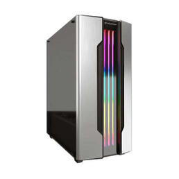 COUGAR 385BMB0.0002 Gemini S Silver RGB Mid-Tower Computer Case