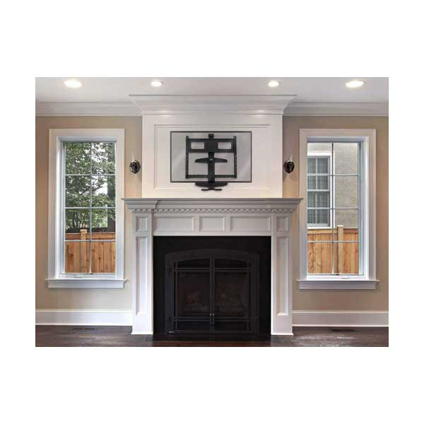 """Manhattan 461825 40"""" to 70"""" Above-Fireplace Flat-Panel TV Wall Mount with Tilt Swivel and Rotate Adjustment"""