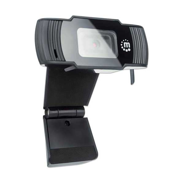 Manhattan 462006 2MP 1080p Full HD USB Webcam with Integrated Microphone and Adjustable Clip Base