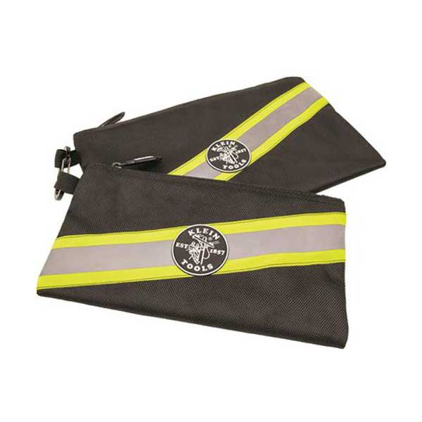 Klein Tools High Visibility Zipper Bags, 2Pk