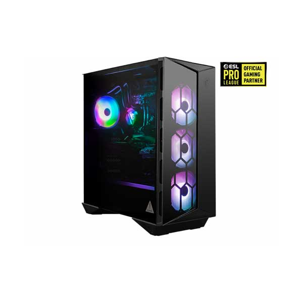 MSI AEGISRS10SD014 Aegis RS 10th Gen Intel Core i7-10700KF 8-Core Processor 16GB DDR4 NVIDIA RTX 2070 SUPER 8GB Desktop Gaming Computer with VIGOR GK 30 Keyboard and Clutch GM11 Mouse