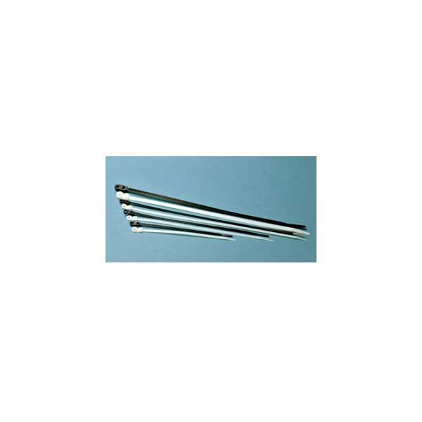 """7"""" Mounting Hole Cable Ties - Black / 100 Pack"""