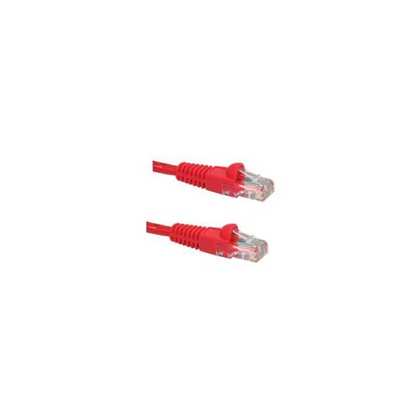 CAT 6 RED 1' SNAGLESS BOOT