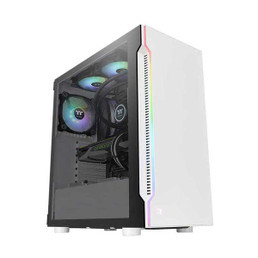Thermaltake CA-1M3-00M6WN-03 H200 TG Snow RGB Mid Tower PC Case
