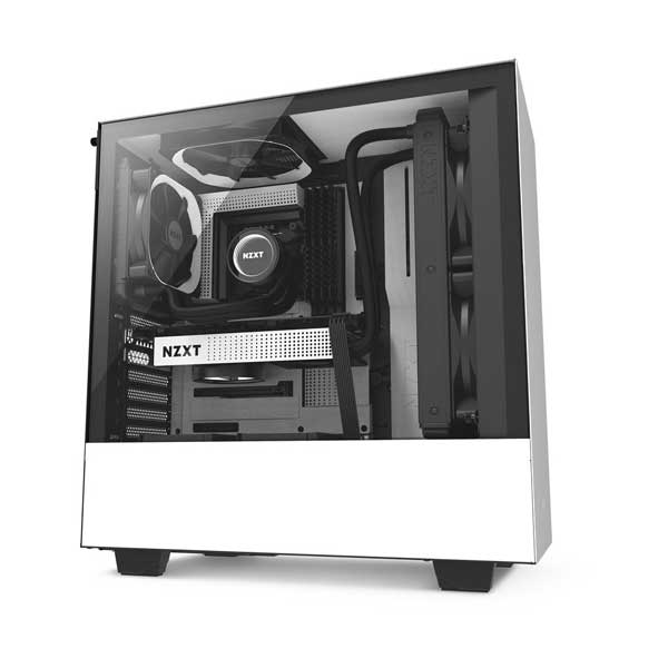 NZXT H500 Mid-Tower Case - Matte White