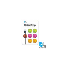 BlueLounge CableDrop Multi-Purpose Cable Clips - Bright Colors