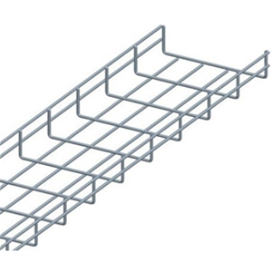 "5' Wire Mesh Cable Tray (12"" Wide, 2"" High), Zinc"