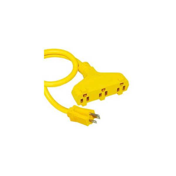 Heavy Duty Outdoor/Indoor 3-Outlet Extension Cord - 100'