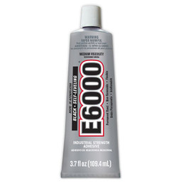 Eclectic E-6000BLK 3.7oz Black Self-Leveling E6000 Industrial Strength Adhesive