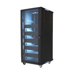 """Video Mount Products EREN-27 19"""" 27U Equipment Rack Enclosure Preloaded with Shelves and Blanks"""