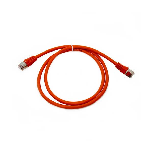 Shielded Cat 6 Network Cable Orange 7 Length