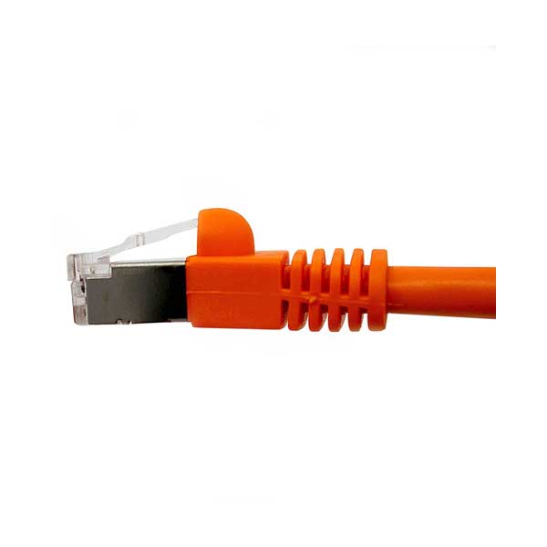 Shielded Cat. 6 Network Cable (Orange, 25' Length)
