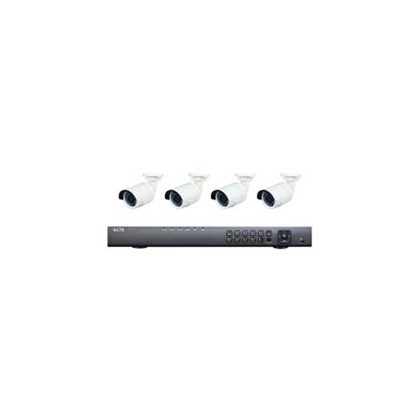 LT Security 8-Channel NVR with 4 x 2.1MP Mini Bullet IP Cameras Kit