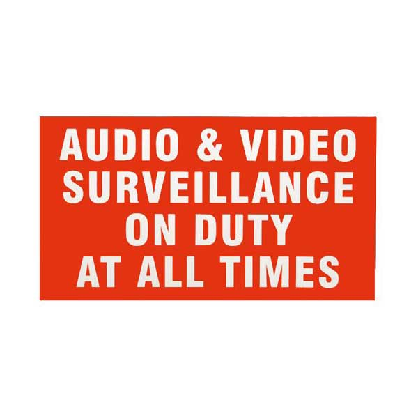 "LT Security LTSTICKER 11"" x 6"" Weather Resistant CCTV Security Surveillance Warning Decal Sticker"