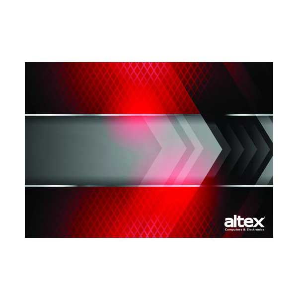 "Altex Large 11"" x 17"" x 1/8"" Mouse Pad (Red)"