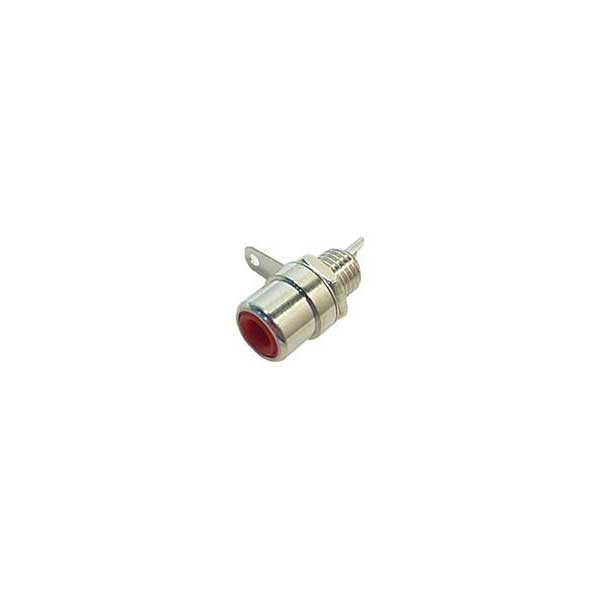 Female RCA Chassis-Mount Connector (Red)