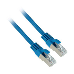 7ft Shielded Cat6a Blue Network Cable