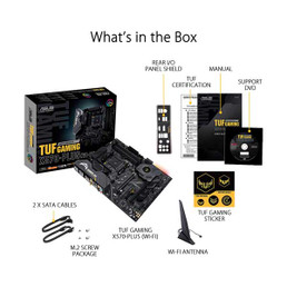 Asus Tuf Gaming X570 Plus Wifi Amd Am4 Atx Gaming Motherboard With Dual M 2 And