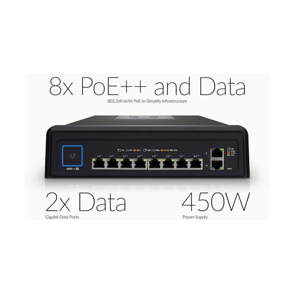 Ubiquiti USW-INDUSTRIAL 10-Port Gigabit Durable UniFi Industrial Switch with High-Power 802.3bt PoE++
