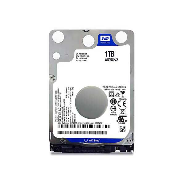 Western Digital Blue 1 TB Mobile HDD SATA 6 GBs 5400 RPM 128MB Cache- WD10SPZX