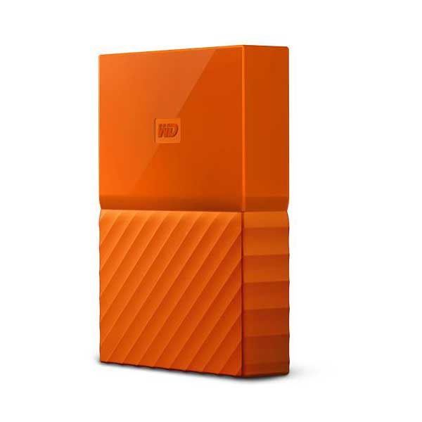 Western Digital 4 TB Orange My Passport USB 3.0 External Hard Drive- WDBYFT0040BOR