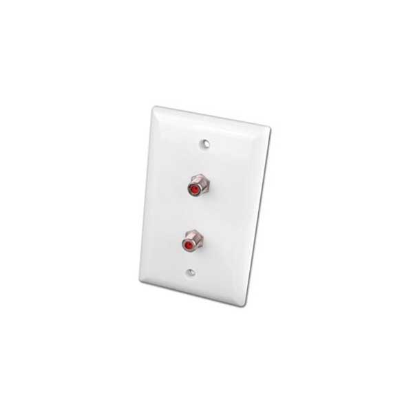 Digital 3GHz Video Dual Coax Wall Plate - White