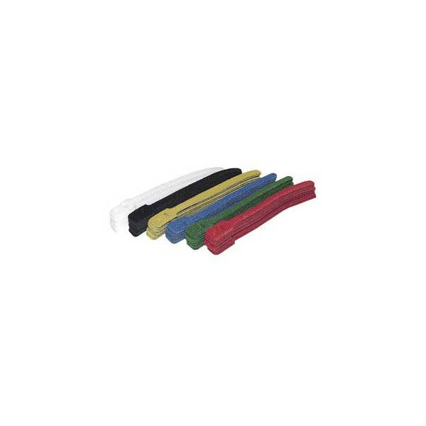 "9"" Hook and Loop Cable Ties - Assorted Colors / 10 Pack"
